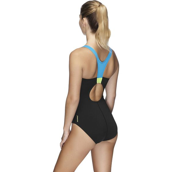 Womens Image Uplift One Piece, Curl Curl/Safety Yellow/Black, hi-res
