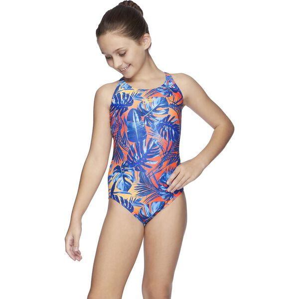 Teens Squad Loopback One Piece, Hot Tropic/Funray, hi-res