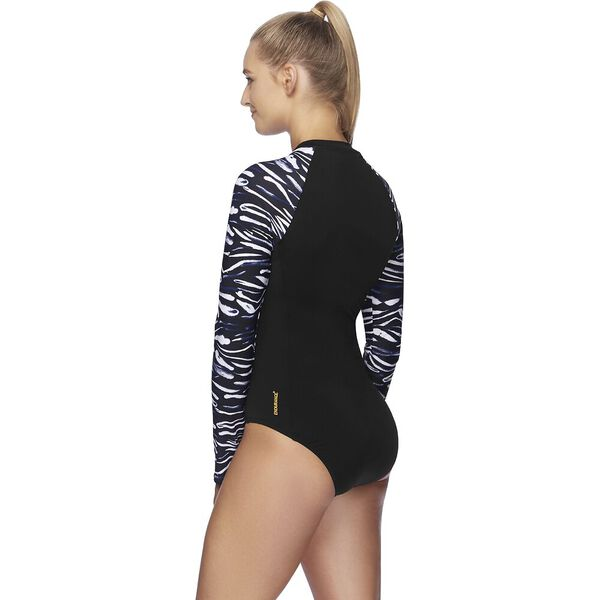 Womens Endurance+ Long Sleeve Paddlesuit, Bandhan/Black, hi-res