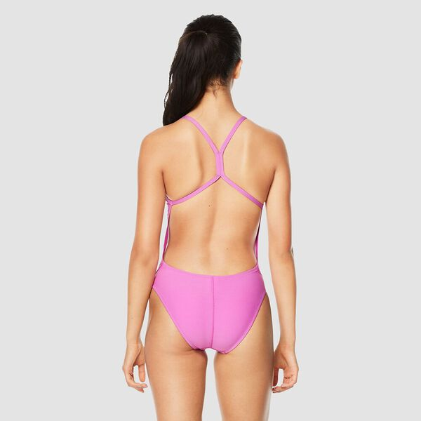 Womens Solid Rippleback One Piece, Pink, hi-res
