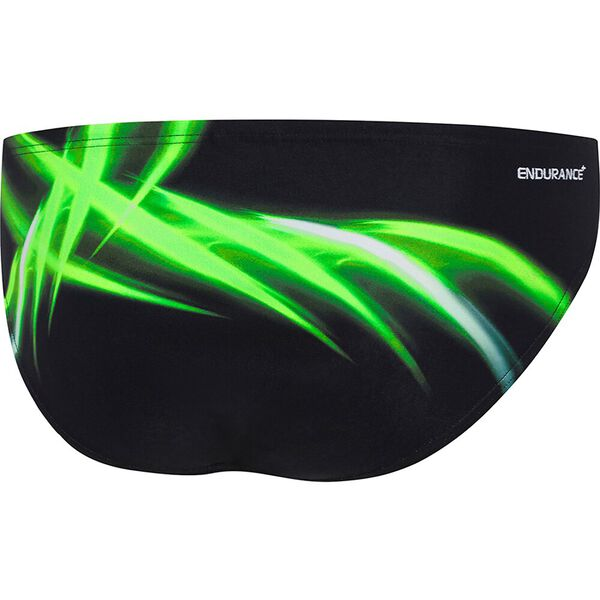 MENS ENERGIZE 8CM BRIEF, Black/Energize Green, hi-res