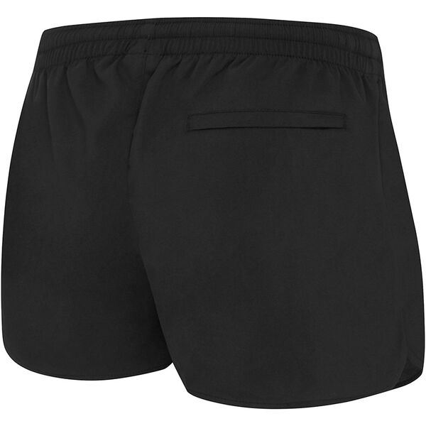 WOMENS LONGLINE WORK OUT SHORT, BLACK, hi-res