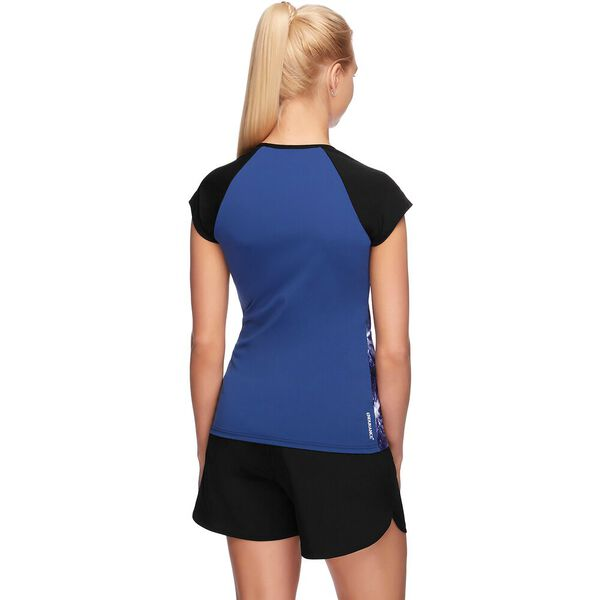WOMENS CAP SLEEVE SUN TOP, MIRROR LIGHT/MARINER/BLACK, hi-res
