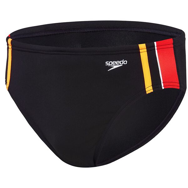 MENS MACCA BRIEF, Black/Fiesta/Fluro Orange, hi-res