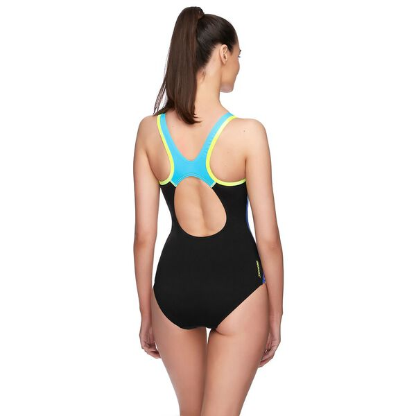 WOMENS D/DD MUSCLEBACK ONE PIECE, RAYS/INCA/SAFETY YELLOW, hi-res
