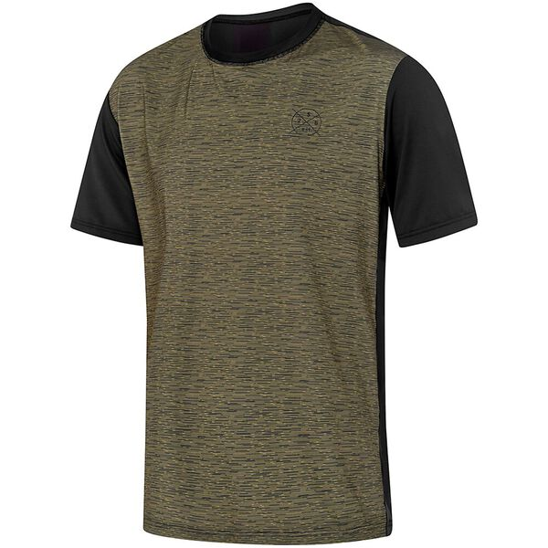 MENS SALTY TEE SHORT SLEEVE RASHIE, Utility Marle/Black, hi-res