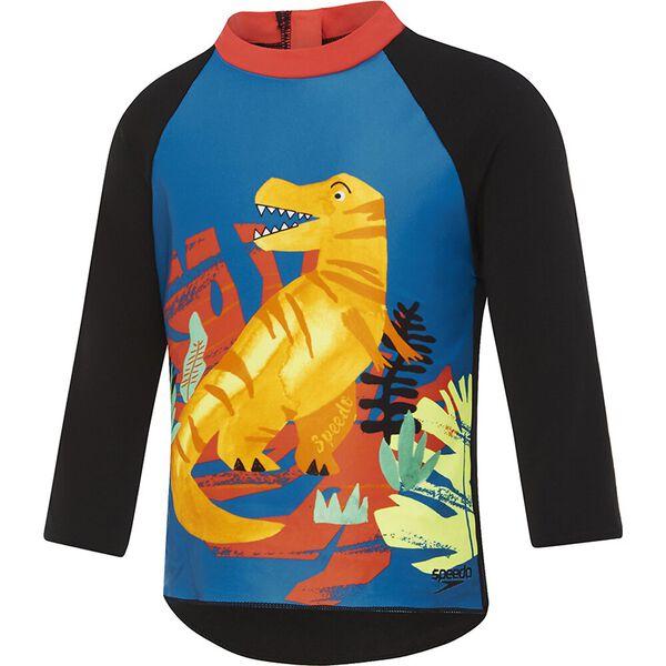Toddler Boys Long Sleeve Rashie, Jurassic Jungle, hi-res