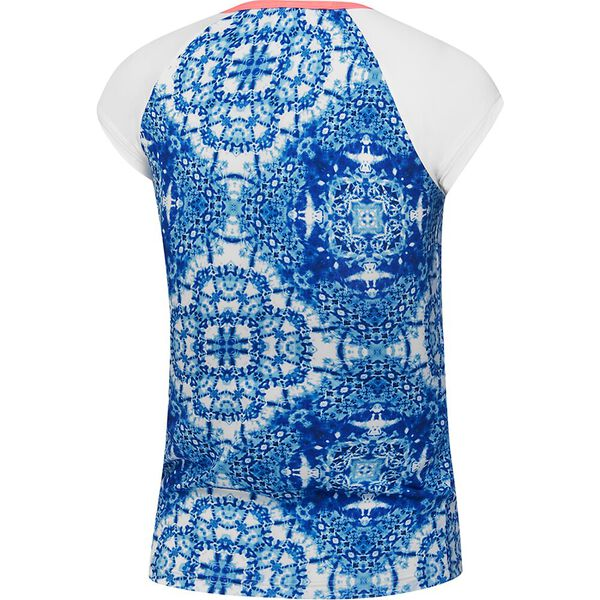 Girls Speedo Eco Fabric Cap Sleeve Rashie, Boho Tile, hi-res