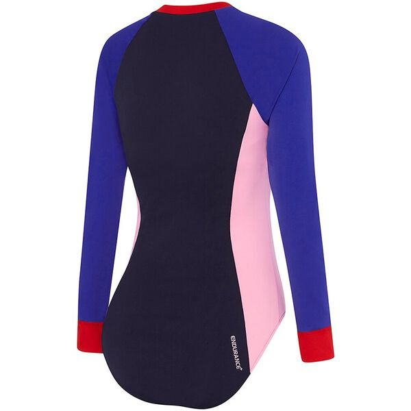 WOMENS ENDURANCE+ PADDLE SUIT, SPEEDO NAVY/SPEED/CUPID, hi-res